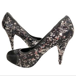 PASTRY HOME SWEET HOME REVERSIBLE SEQUIN PUMP 10